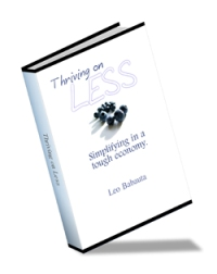 FREE eBook Thriving On Less By Leo Babauta